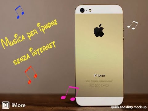 Ascoltare musica senza wifi -IPHONE. listen to music without wifi-IPHONE.