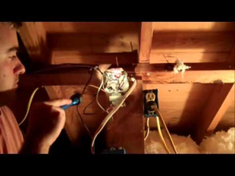 Building Science Home Inspection Attic Inspection with open Electrical Junction Box