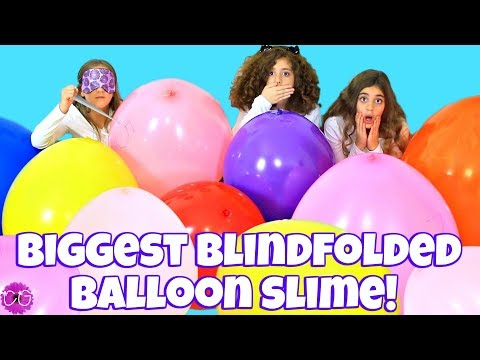 SLIME CHALLENGE - SLIME WITH GIANT BALLOONS!