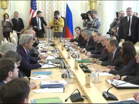 Встреча С.Лаврова и Дж.Керри