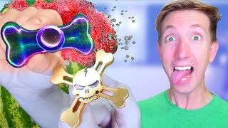 5 Fidget Spinner Toys vs Fruit Ninja