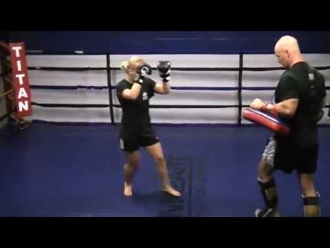 Women's Kickboxing (Muay Thai pad training) Image 1
