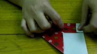 Christmas Stocking Origami