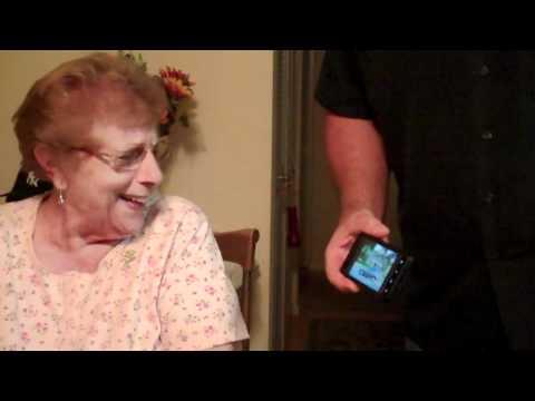 Grandma Laughing At Geico Pig Commercial -- Weeeeeeeee video