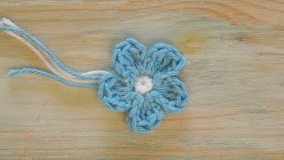 (crochet) How To Crochet a Mini Flower - Yarn Scrap Friday
