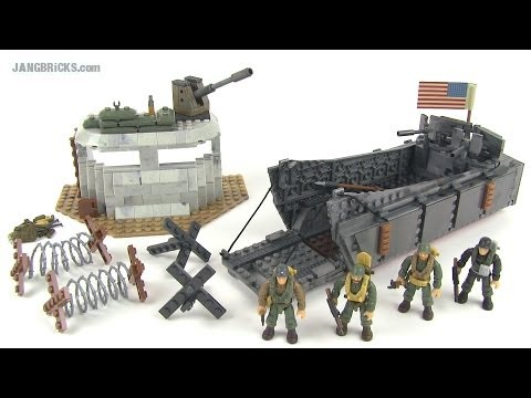 Mega Bloks Call of Duty 6829 Landing Craft Invasion WWII set review!