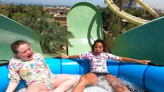 SCARY WATERPARK WATERSLIDES IN DUBAI!!