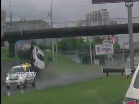 Porsche Cayman Crashes into a Wall