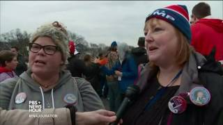 On the Mall, Trump supporters exult, 'We're here!'