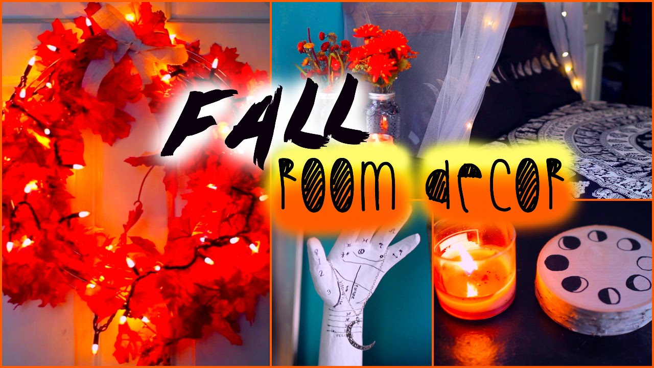 Diy fall room decor tumblr inspired youtube for Room decor 2014