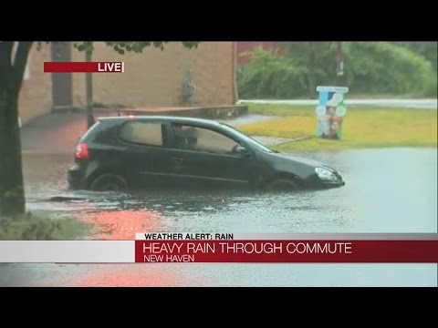 Heavy rain causing flooding in Connecticut