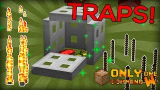 Automatic Traps with one command. Cages, flame traps, bear traps and spikes! [ MINECRAFT 1.10 ]