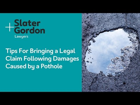 Tips For Bringing a Legal  Claim Following Damages Caused by a Pothole