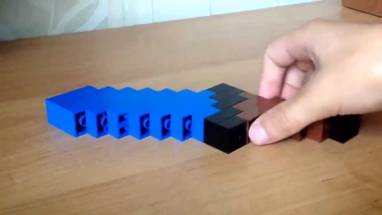 Как сделать из майнкрафта меч из лего
