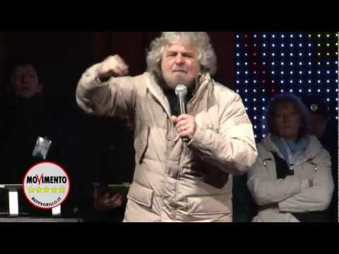 Beppe Grillo tsunami tour: Novara, 15 Febbraio 2013 COMIZIO INTEGRALE