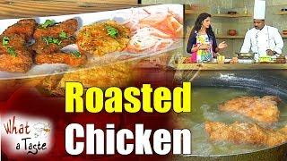 Crispy Roasted Chicken Recipe || What A Taste || Vanitha TV