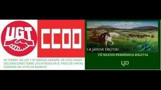 LA JANDA DIGITAL ENTREVISTA CON UGT Y CCOO DEL AYTO DE BARBATE
