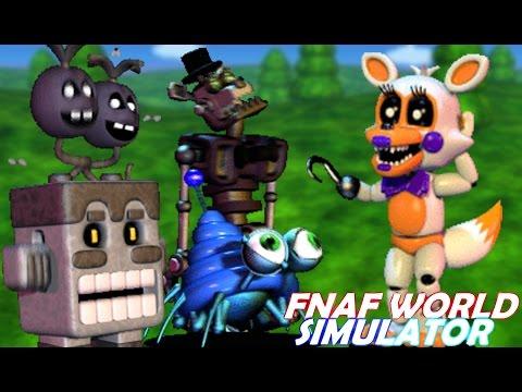 TOY FREDDY PLAYS: FNAF World Simulator    BETRAYING FREDDY AND FRIENDS