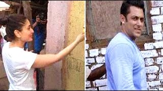 Salman Khan And Kareena Kapoor Paint a Village For Being Human!