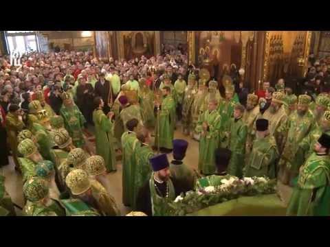 Патриарх Кирилл совершил Литургию с Троице-Сергиевой Лавре