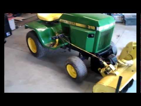 My 1983 John Deere 318 - Setting up for winter. 49 Blower & Plow