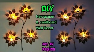 DIY Newspaper Wall Hanging | DIY Wall Hanging | Diy wall decor | Home decorating ideas |artmypassion