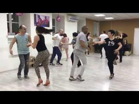 Кубинская сальса от Алайна. Средняя группа. Школа танцев A4G Dance