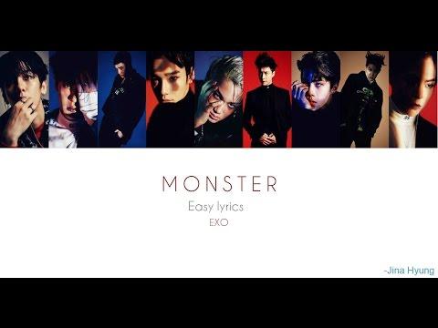 Monster Exo Easy Lyrics