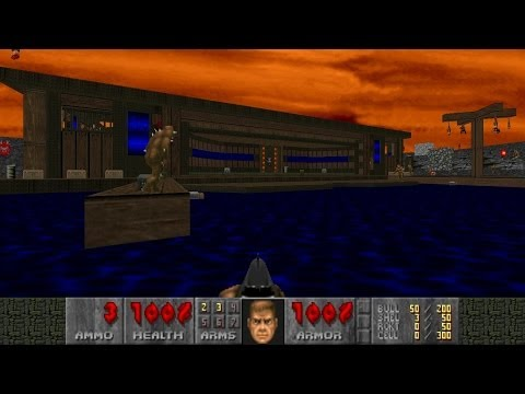 Doom2 Unholy Realms MAP 16 Dockside UV-Max in 2:38