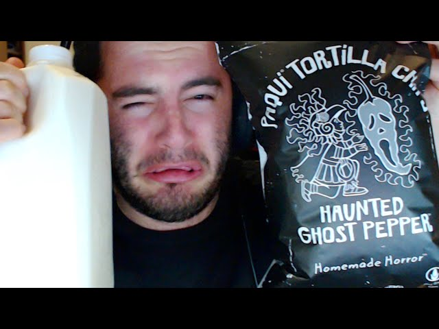 SPICY GHOST PEPPER CHIP CHALLENGE OF DOOM