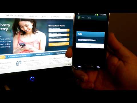 How to Unlock a Galaxy Express SGH-i437Z from AIO Wireless by Unlock Code. from CellphoneUnlock.net