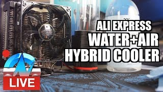 Live: Weird Air+Water Hybrid Cooler from AliExpress - pt. 2!