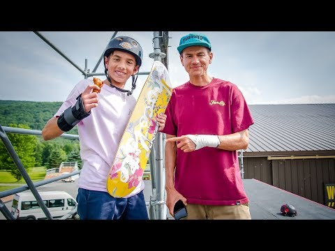 Chocolate Skateboards Giveaway at Woodward with Chico Brenes & Stevie Perez