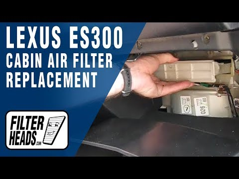 Cabin air filter replacement- Lexus ES300