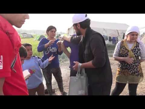 Greece-Apr. 5, 2016: Idomeni: Supplies, Haircuts and Medical Aid