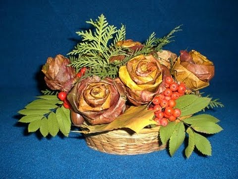 Букет из листьев клена на тему осень 135