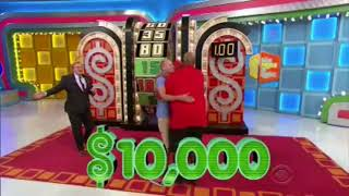 Craziest Price is Right wheel spin EVER!!! $80,000 won!