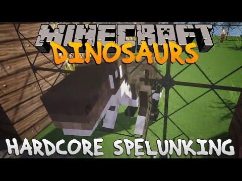 Minecraft Dinosaurs Part 13: Hardcore Spelunking.