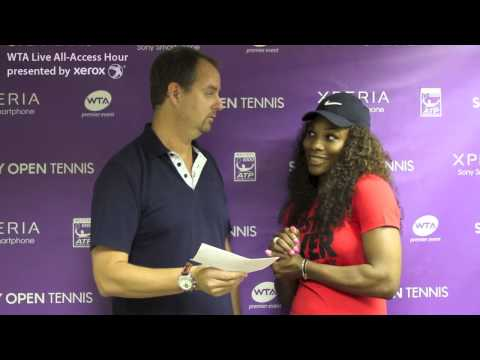 Serena Williams | WTA Live All-Access Hour presented by Xerox | Sony Open Tennis 2013