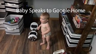 Baby Speaks to Google Home