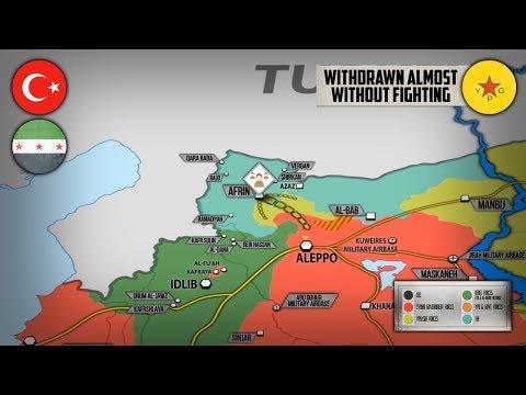 19 марта 2018. Военная обстановка в Сирии. Протурецкие силы полностью заняли Африн почти без боя.