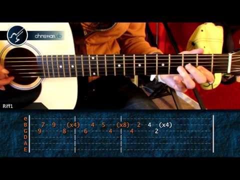 Como tocar The Reason - Hoobastank en guitarra acustica (HD)...