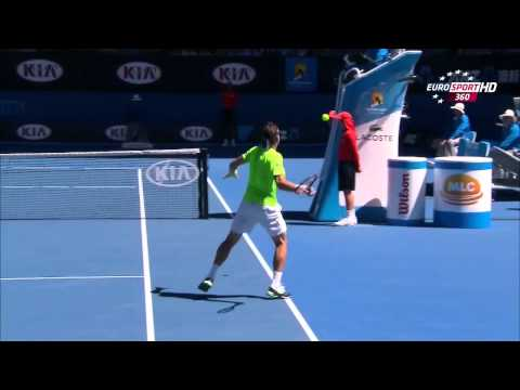 David Ferrer Vs Thomas Berdych Australian Open 2014 1/4 1 Set/First Set 720 HD