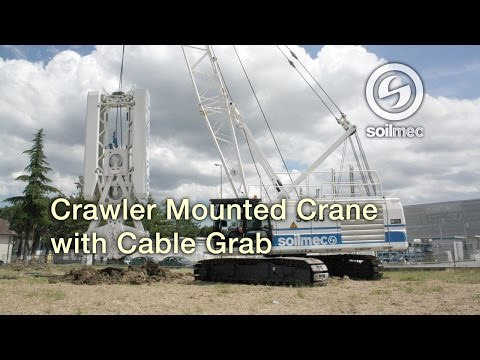 Soilmec Crane SC 65 [Crawler mounted crane with cable grab]