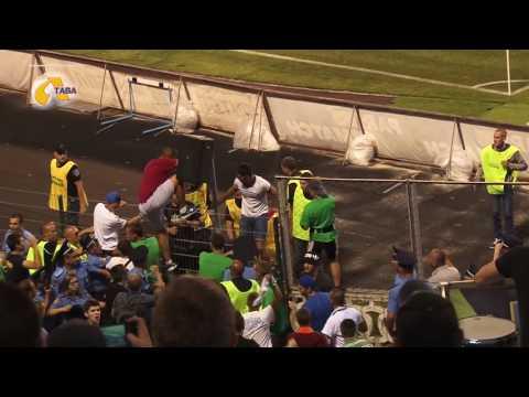 Повна версія бійки фанатів з правоохоронцями на матчі «Ворскла» - «Локомотіва» (ВІДЕО)