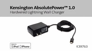 Kensington AbsolutePower 1.0 Hardwired Lightning Wall Charger
