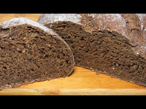Домашний РЖАНОЙ ХЛЕБ черный хлеб рецепт - Rye black BREAD recipe - BÁNH MÌ ĐEN