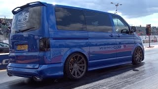 400+ BHP Audi RS4 Powered VW T5 Transporter - 14.5 @ 99mph.