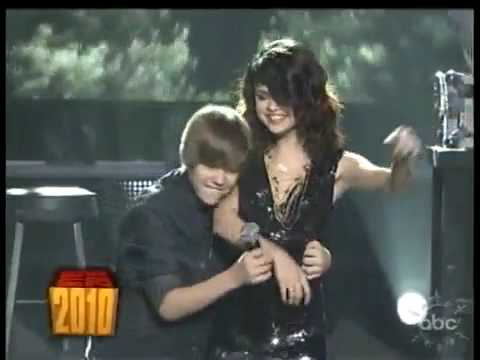 One Less Lonely Girl-Justin Bieber with Selena Gomez -Dick Clarks New Years Eve 2010
