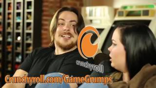 all of the game grumps crunchyroll commercials but every time anyone says anime it gets faster